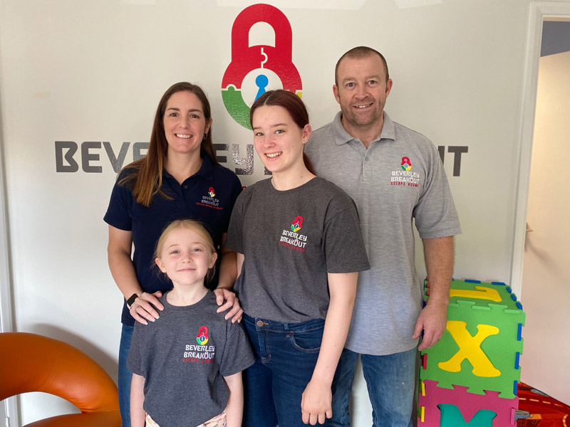 The family behind Beverley Breakout Escape Rooms in Beverley